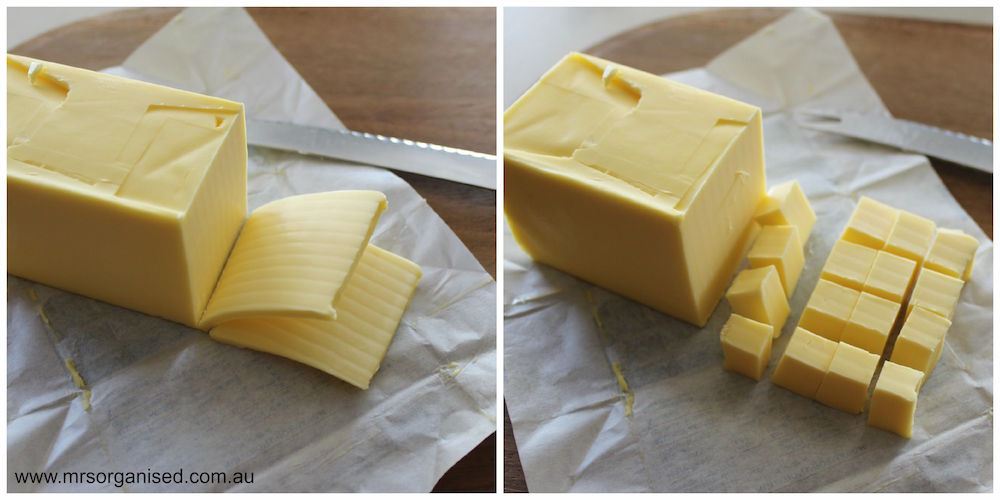 Kitchen Hints and Tips #1 ... How to Soften Butter in a Hurry 002