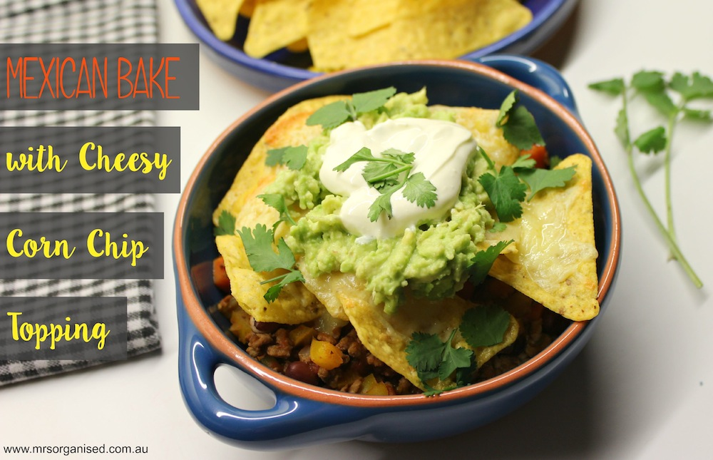 Mexican Bake with Cheesy Corn Chip Topping