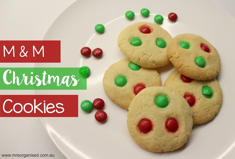 M & M Christmas Cookies 003