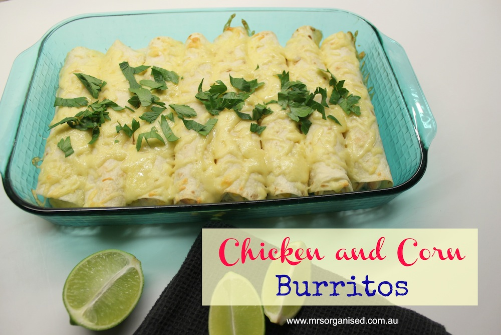 Chicken and Corn Burritos