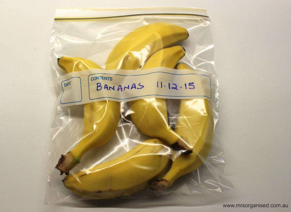 Kitchen Hints and Tips #4 … How to Freeze Bananas 004