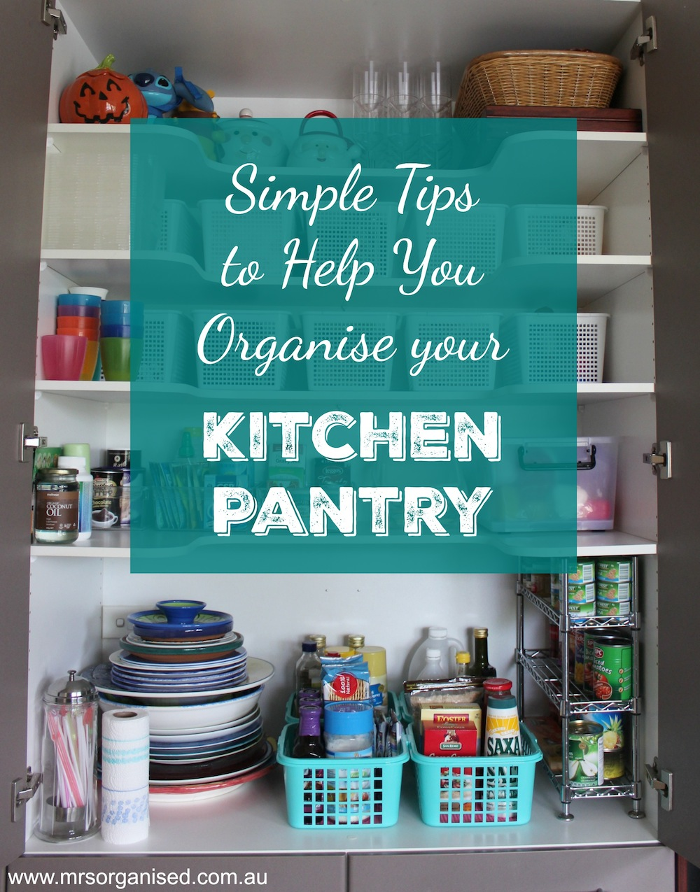 Simple Tips to Help you Organise the Kitchen Pantry 001