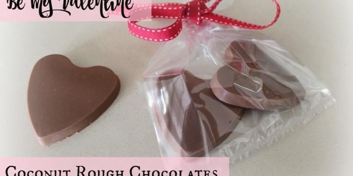 Be My Valentine Coconut Rough Chocolates 001