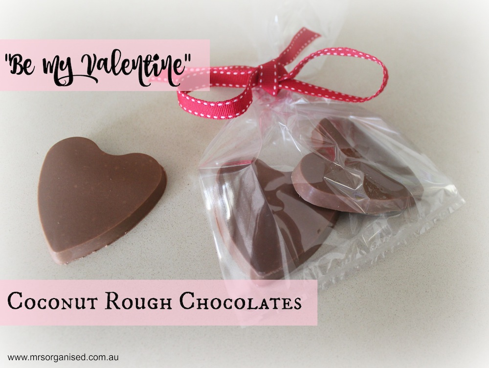 Be My Valentine Coconut Rough Chocolates 001