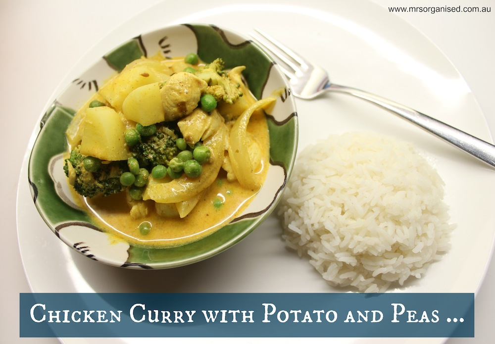 Chicken Curry with Potato and Peas