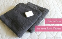 How to Care for your Bath Towels 001