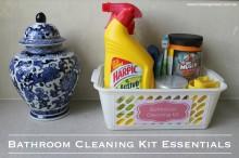 Bathroom Cleaning Kit Essentials 001