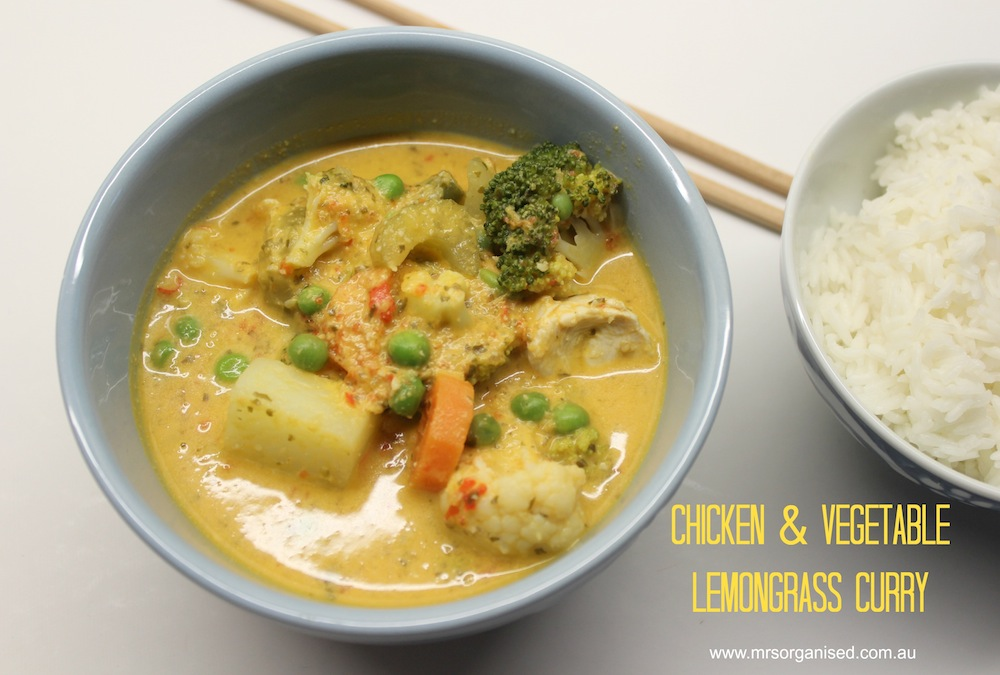 Chicken and Vegetable Lemongrass Curry