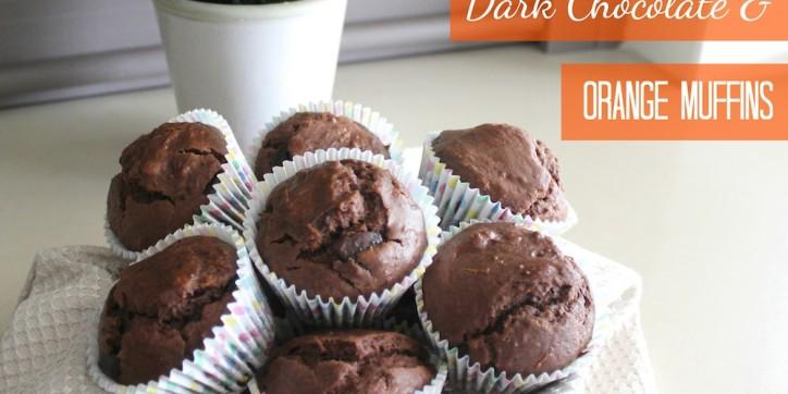 Dark Chocolate and Orange Muffins 001