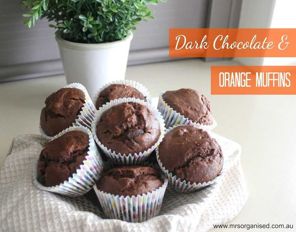Dark Chocolate and Orange Muffins 001