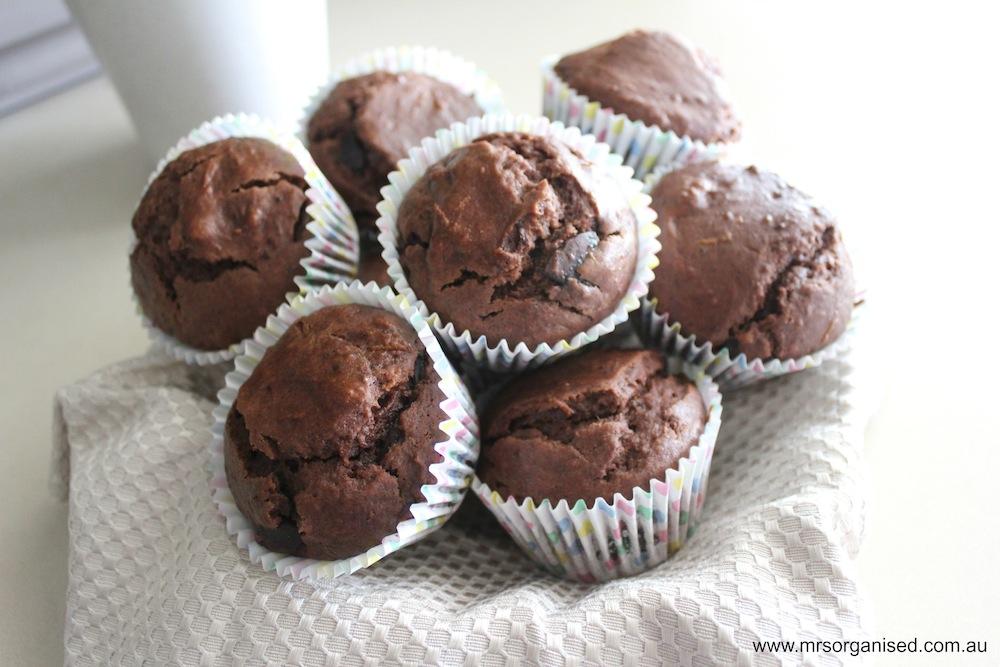 Dark Chocolate and Orange Muffins 002