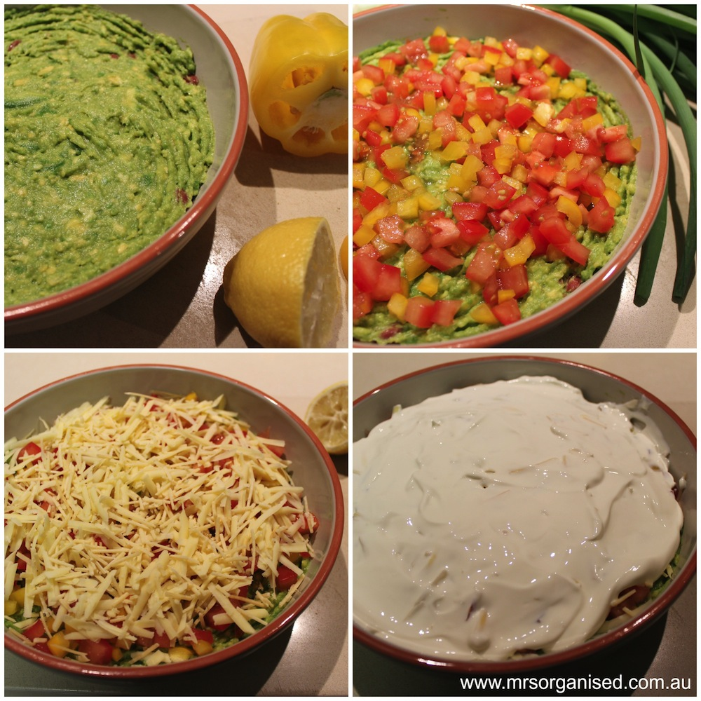 Mexican Layered Dip 003