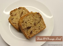 Date and Orange Loaf 001