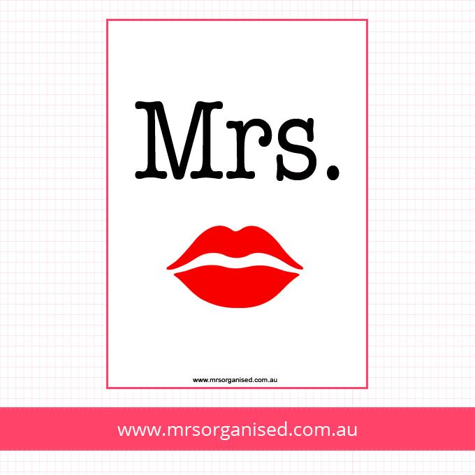Mrs Poster