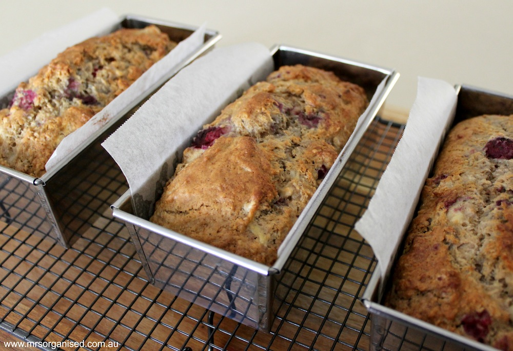 Raspberry Banana Loaf 002