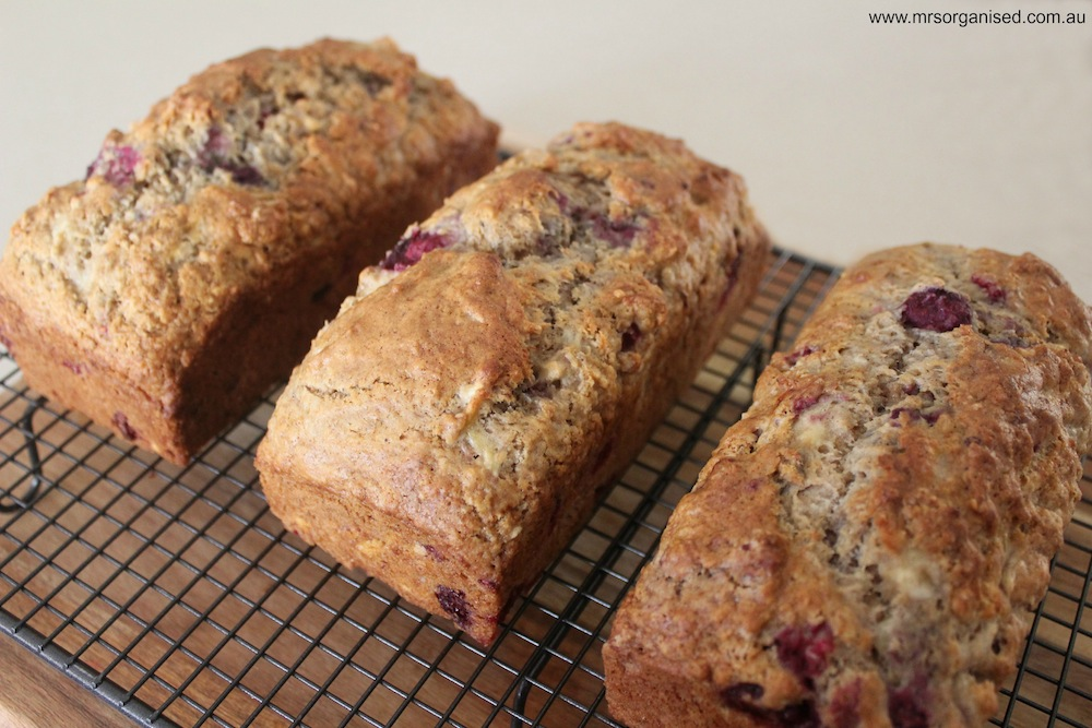 Raspberry Banana Loaf 003