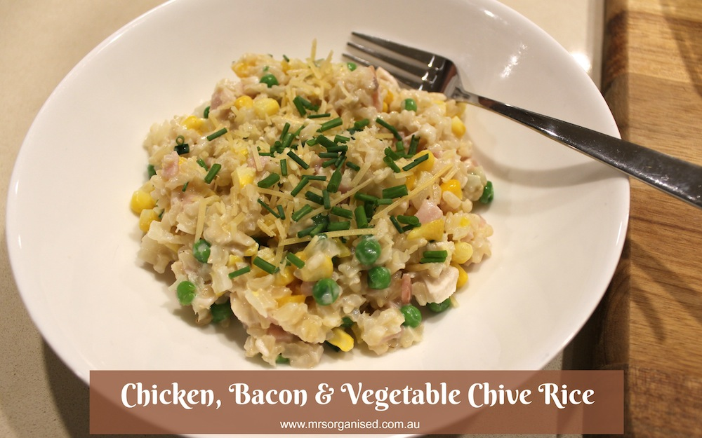 chicken-bacon-vegetable-chive-rice