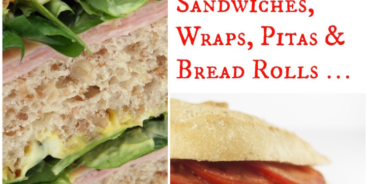 25 Delicious Fillings for Sandwiches, Wraps, Pitas and Bread Rolls