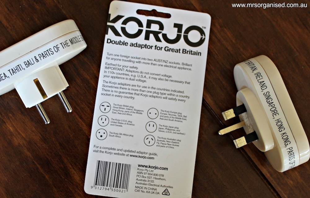 Simple Hints and Tips for Buying, Using and Organising your Travel Adaptors 003
