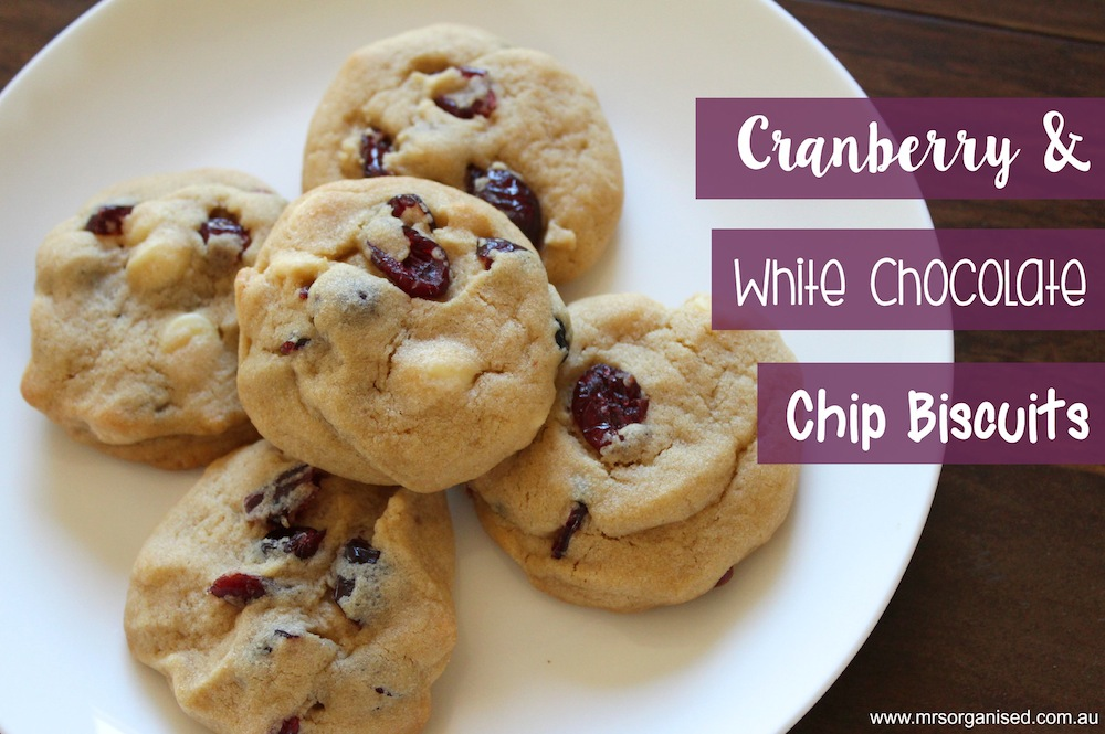 Kinder Garden: Cranberry And White Chocolate Chip Biscuits